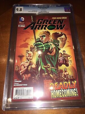 Green Arrow #24 CGC 9.8 White Pages New 52 1st Appearance Diggle