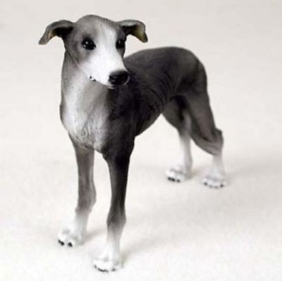 GREYHOUND (BLUE)  DOG Figurine Statue Painted Resin Figure