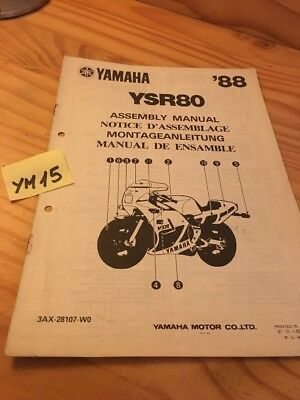 Yamaha YSR80 1988 YSR 80 instruction preparation setup manuel montage moto