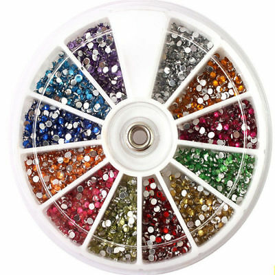 3600pcs 3D Nail Art DIY Rhinestones Decoration For UV Acrylic Accessories 1.5mm