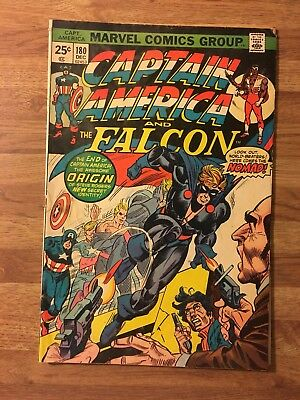Captain America #180 (Marvel 1974) 1st App Of Nomad~Infinity War~Bronze Age Key!