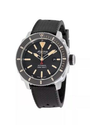 Alpina Seastrong Grey Dial Silicone Strap Men's Watch AL525BLGG4V6