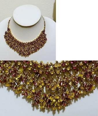 Necklaces – LOT-NK#162 – Gorgeous Handcrafted Multi-Layer Beaded Chain Style Bib