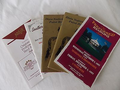 Lot of 5 Equestrian Show Programs 1988 - 1997 OK and MS  #5165