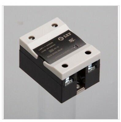 uxcell LSR1-1-380DA 80A DC to AC 3-32VDC to 24-440AC SSR Solid Relay & Heat Sink