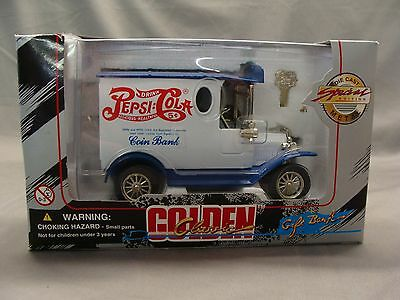 1996 Pepsi Cola, Golden Wheel Die Cast Metal Toy Delivery Truck Bank, item 31411