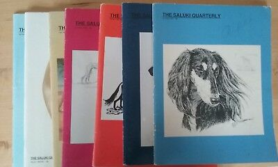 8 issues, The Saluki Quarterly 1987-1989, dog breed