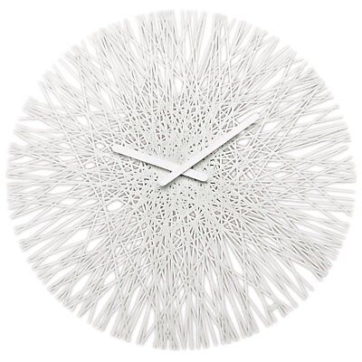 koziol SILK Wall Clock, Cotton White
