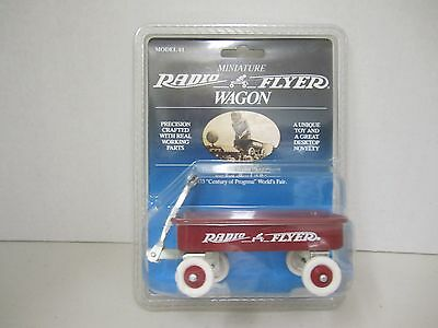Miniature RADIO FLYER WAGON - Model #1 - A Unique Toy and a Desktop Novelty