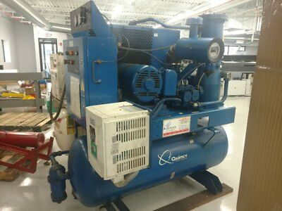 25 HP Quincy Rotary Screw Air Compressor, with Holding Tank