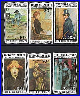 Togo 1976 Toulouse-Lautrec Paintings Mnh