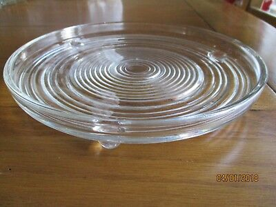 "Vintage Pressed Glass Cake Stand / Plate – 8.5"" -Ideal for Weddings or Tea Party"