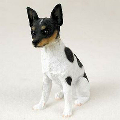 RAT TERRIER DOG Figurine Statue Hand Painted Resin Gift Pet Lovers