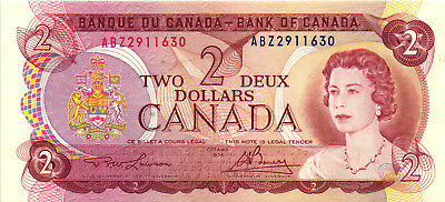 A Very Nice 1974 $2.00 Bank of Canada Bank Note - Pick 86-A - Ch CU