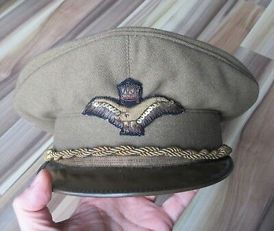 WWII Royal Hungarian Air Force Officer Visor Hat RARE Pilot Military
