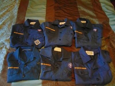 Lot of (6) Boy Scouts of America Cub Scouts Youth Blue Medium Short Sleeve Shirt