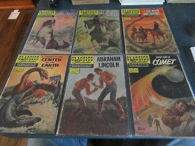 Lot of 6 Classics Illustrated Comics  91 97 125 138 142 149   Lot T