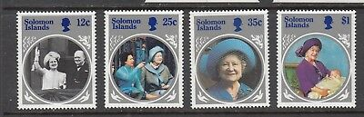 SOLOMON ISLANDS THE QUEEN MOTHER STAMPS UNUSED   .Rfno.A368.