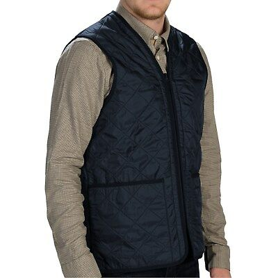 Barbour Polarquilt Vest (M) Mens Nwt Waistcoat Zip-In Liner Navy Fleece Lined