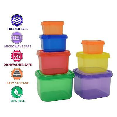 7 x Healthy Eating Portion Control Pots Containers Weight Loss Diet Meal Prep