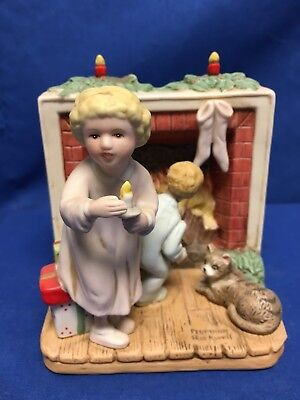 """Norman Rockwell Christmas """"Is He Coming"""" Innocence of Youth Collection Figurine"""