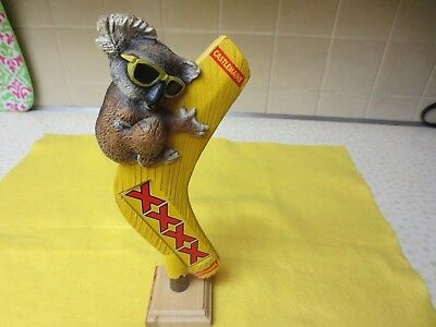 Very Rare/scarce Castlemaine Xxxx Boomerang Koala Tap Handle