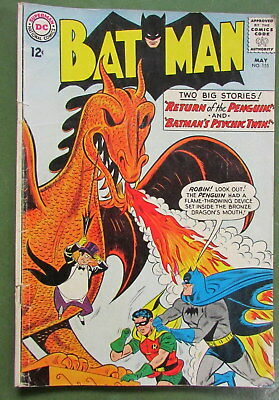 1963 Dc Comics Batman #155 1St Appearance Silver Age Of The Penguin