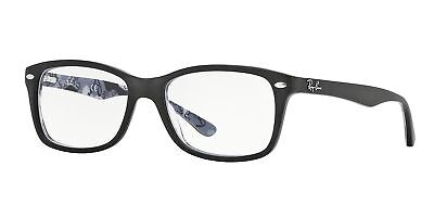 f4910ca960 RAY-BAN RX 6375 2861 Silver on Black Metal Round Eyeglasses 53mm ...
