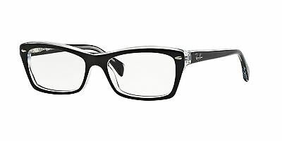 Ray-Ban RX5255 2034 53mm Top Black On Transparent Eyeglasses