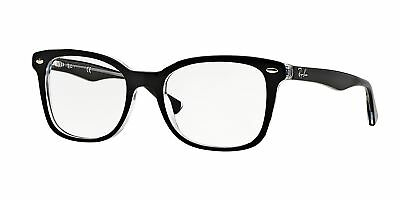 Ray-Ban RX5285 2034 53mm Top Black On Transparent Eyeglasses