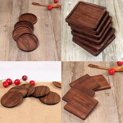 New Fashion Square Wooden Coaster Cup Drinks Holder Mat Placemat Tableware