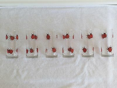6 Red Ladybird Glasses
