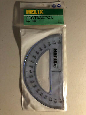 "Helix 6"" 180 Degree Shatter Resistant Protractor HX12071 079252120712"
