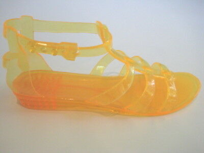 bebb2585b BCBG MAXAZRIA YELLOW Gladiator Jelly Sandals Woman Size 5 M -  12.27 ...