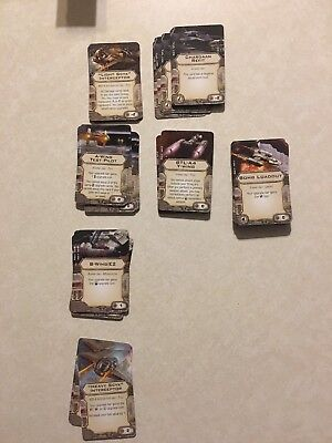 Single Star Wars X-Wing Miniatures Game - Title And Modifications Upgrade Cards