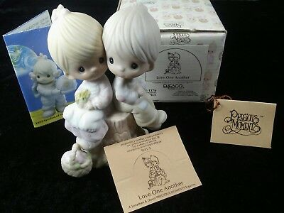 Precious Moments Figurine, Love One Another, E1376 With Box, G Clef Mark PM