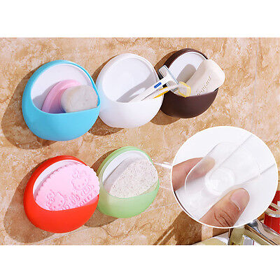 Hot Wall Bathroom Toothbrush Suction Cup Toothpaste Soap Dishes Holder Organizer