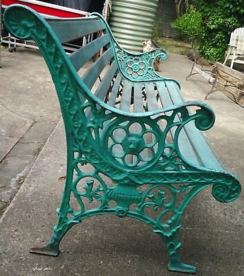 Cast Iron And Slatted Timber Garden Bench