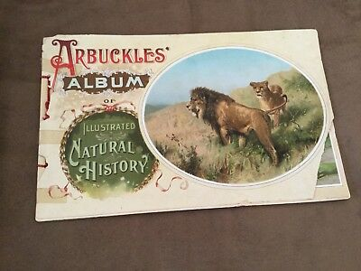 Antique ARBUCKLES ALBUM OF ILLUSTRATED NATURAL HISTORY (1889)