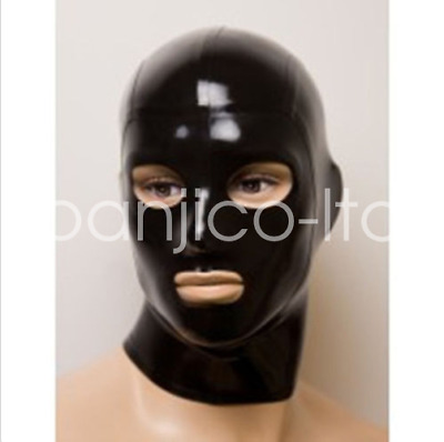 New Latex Rubber Masquerade Unique Inflatable Hood Mask Black Head size Choose