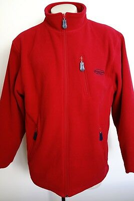 ronstan red fleece lined heavyweight sailing jacket…size medium…vgc...