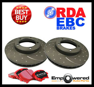 DIMPL SLOTTED FRONT DISC BRAKE ROTORS + PADS for Volkswagen Tiguan 5N 2007 on