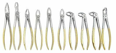 Tooth Extraction Extracting Forceps Surgical Dental Instruments CE UK Set of 10