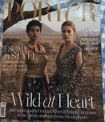 Porter Magazine Summer Escape 2017 Issue 21 Rare Cover Doutzen Kroez & Imaan