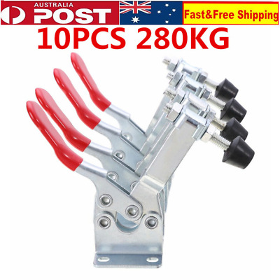 10Pcs 280kg Quick Release Hand Operated Tool Horizontal Toggle Clamp GH-25382 AU