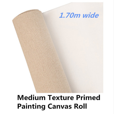 Blank Painting Canvas Long Linen Blend Roll 1.70m Wide Primed Artist Quality
