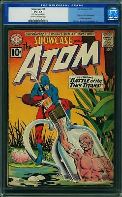 Showcase #34 CGC 3.5 DC 1961 1st Atom! Silver Age! Old Label! G11 103 cm
