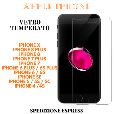 Vetro Temperato Pellicola Apple iPhone X/8/8PLUS/7/7PLUS/6/6S/PLUS/5/5S/5C/SE/4