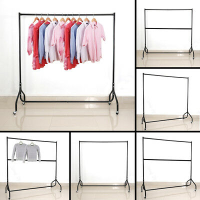 4ft 5ft 6ft Heavy Duty Clothes Rail Display Clothing Garment Stand Rack w/ Wheel