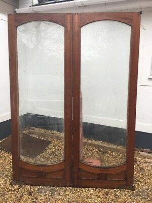 Pair Large Edwardian Doors French Doors Reclaimed Antique Period Old Hardwood